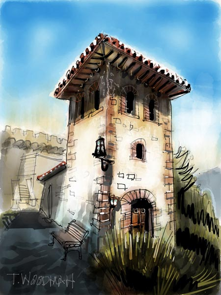 iPad Sketches Drawings Art Architect Thomas Woodman Castello di Amorosa