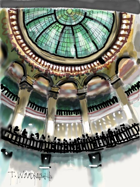 iPad Sketches Drawings Art Architect Thomas Woodman Cleveland Trust Bank Rotunda