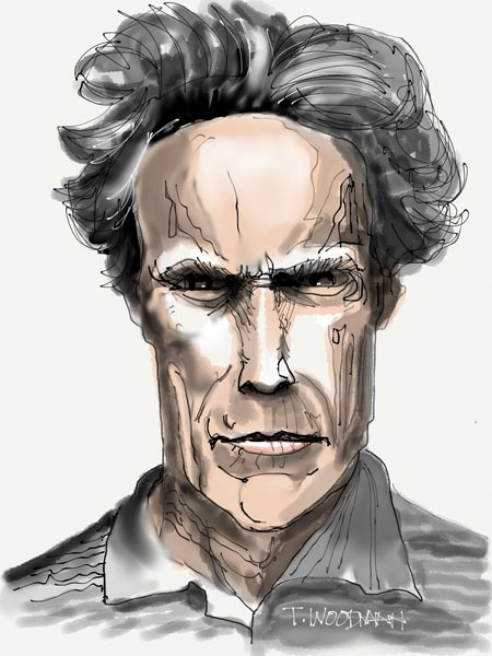 iPad Sketches Drawings Art Architect Thomas Woodman Clint Eastwood
