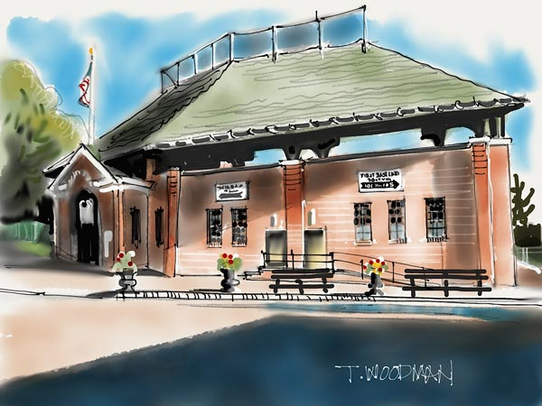 iPad Sketches Drawings Art Architect Thomas Woodman Doubleday Field Cooperstown New York ballpark baseball