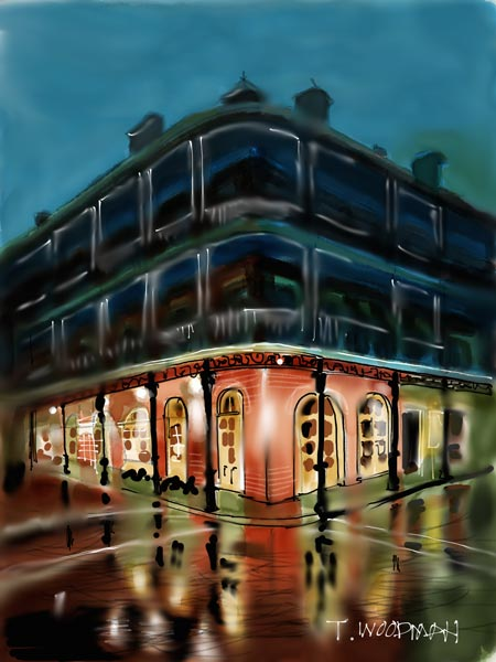 iPad Sketches Drawings Art Architect Thomas Woodman French Quarter New Orleans