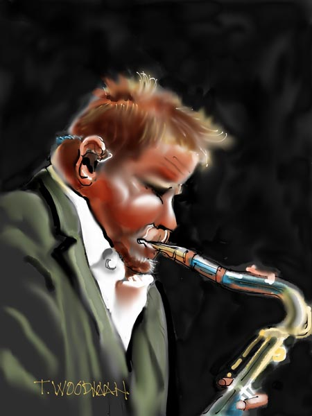 iPad Sketches Drawings Art Architect Thomas Woodman Euge Groove Saxophonist