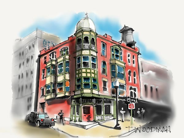 iPad Sketches Drawings Art Architect Thomas Woodman Great Lakes Brewery Cleveland Ohio