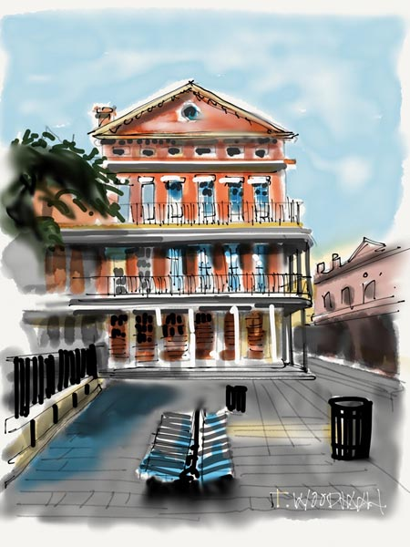 iPad Sketches Drawings Art Architect Thomas Woodman Jackson Square French Quarter New Orleans