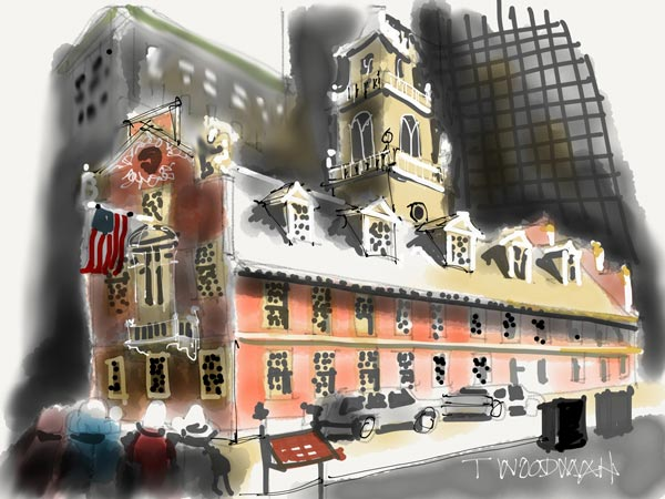 iPad Sketches Drawings Art Architect Thomas Woodman Old State House Boston