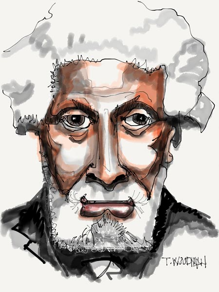 iPad Sketches Drawings Art Architect Thomas Woodman Sonny Rollins Saxophonist