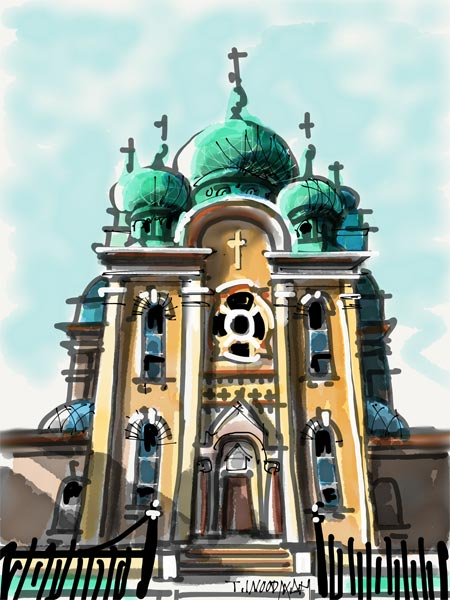 iPad Sketches Drawings Art Architect Thomas Woodman St Theodosius Russian Orthodox Church Cleveland Ohio