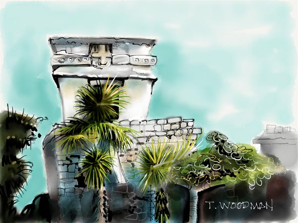 iPad Sketches Drawings Art Architect Thomas Woodman Temple Descending God Tulum