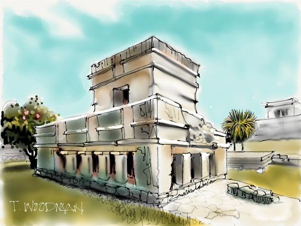 iPad Sketches Drawings Art Architect Thomas Woodman Temple Frescoes Tulum